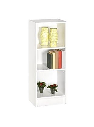 Office Ideas Bücherregal weiß 101 x 40 x 29,4 cm