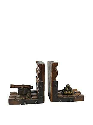 Uptown Down Previously Owned Set of 2 Carved Wood Bookends