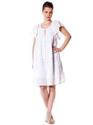 Naf Naf Vestido Puntillas (blanco)