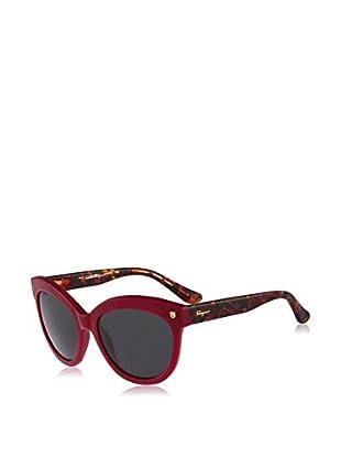 SALVATORE FERRAGAMO Occhiali da sole (55 mm) Rosso Scuro/Marrone