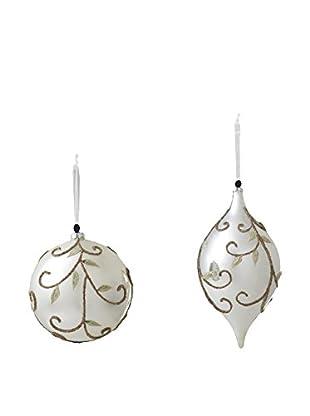 Sage & Co. Set of 2 Glass Vine Ornaments