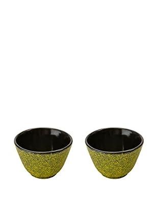 BergHOFF Studio Set of 2 Cast Iron Small Tea Cups, Yellow