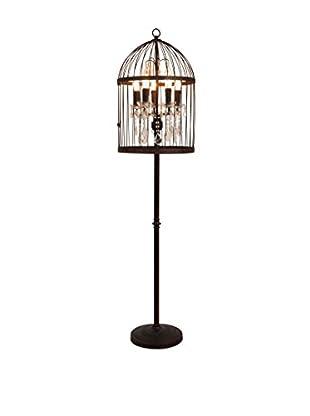 CDI Furniture Iron Bird Cage Floor Lamp, Rust