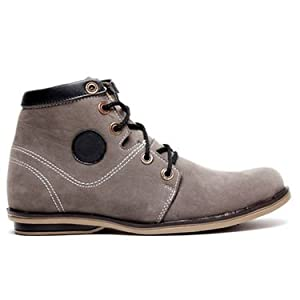 B&B Grey Suede High Ankle Boots