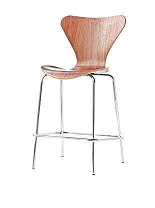 Manhattan Living Jays Counter Stool Chair, Walnut