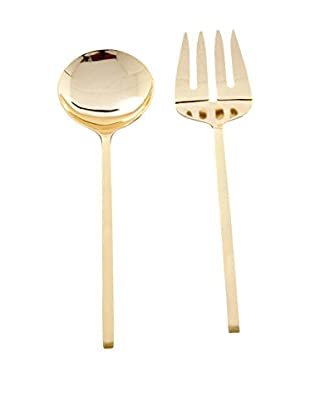 Cunill Block Handle Two-Piece Serving Set, Gold