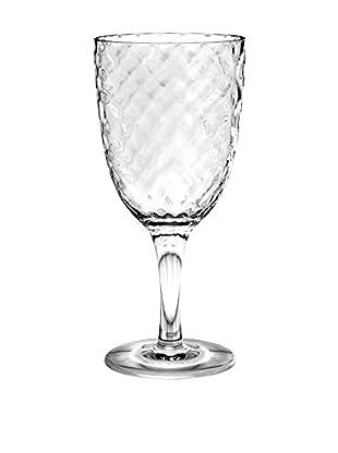 Textured Acrylic Goblet, Clear