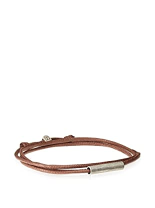 Griffin Brown Oxidized Silver Easton Convertible Triple Wrap Bracelet