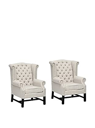 Baxton Studio Set of 2 Sussex Club Chairs