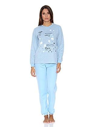 Asman Pijama Señora (Azul Claro)