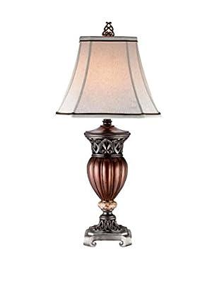 ORE International Roman Bronze Decorative 1-Light Table Lamp, Reddish Brown