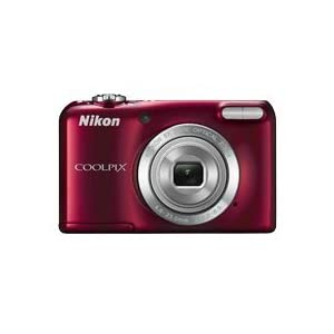 Nikon Coolpix L27 16.1MP Point-and-Shoot Digital Camera (Red) with 4GB Card, Camera Pouch, Rechargeable Battery and Charger