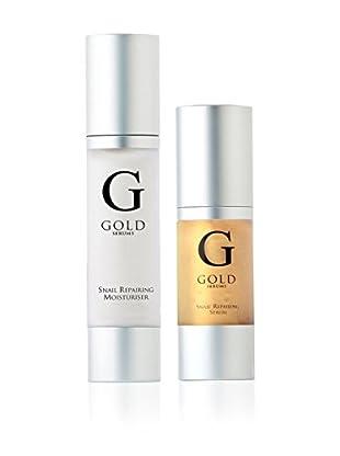 Gold Serums Gesichtsserum + Feuchtigkeitscreme Snail Repairing Serum + Snail Moisturiser