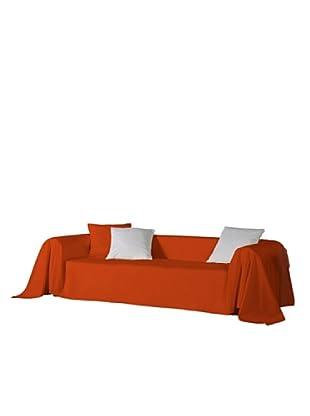 Euromoda Lencería Foulard Sofá  Loneta (Naranja)