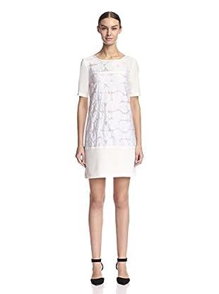 A.B.S. by Allen Schwartz Women's Floral Jacquard Shift Dress
