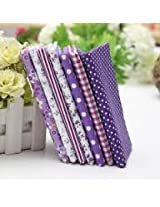 7 Assorted Striped Fabrics Charm Cotton Quilt