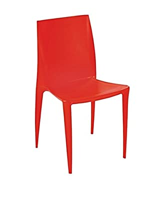 Manhattan Living Square Dining Chair, Orange