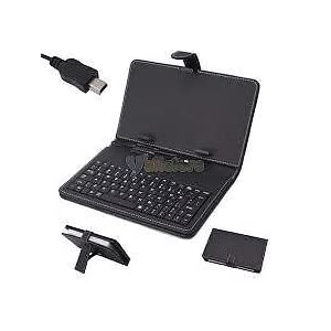 Terabyte 7 Inch Tablet Pc Leather Keyboard Case With Stand,Standard USB Port