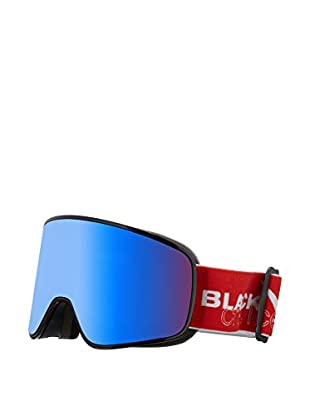 Black Crevice Skibrille Planai rot/weiß