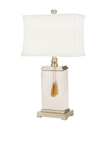 Safavieh Lighting Collection Alyssa White Porcelain 1-Bulb Table Lamp