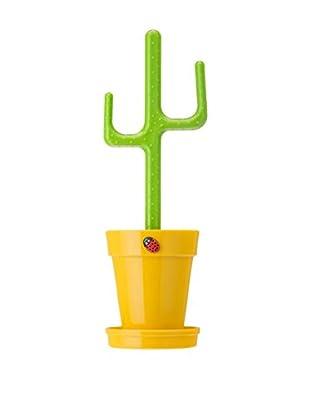 VIGAR Escobilla Baño Flower Power Amarillo / Verde