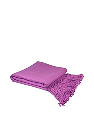 PÜR Cashmere Rayon From Bamboo Velvet Throw, Orchid