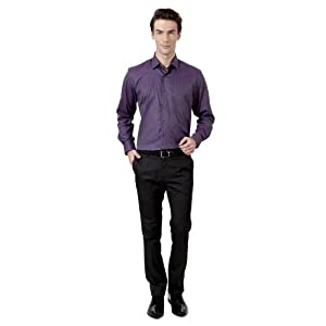 Radiant Orchid Textured Shirt