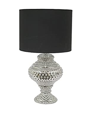 Three Hands Ceramic Table Lamp, Silver/Black