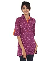 Rajrang Cotton Kurti - PTP00016 (Purple)