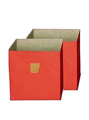 phoenix home Set, 2-tlg. Aufbewahrungsbox orange