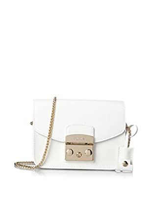 Furla Women's Metropolis Mini Crossbody, Chalk