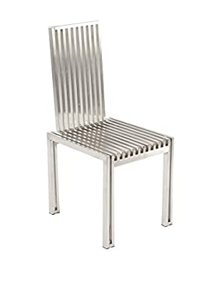 Control Brand The Brushed Stainless Steel Dining Chair, Brushed Silver