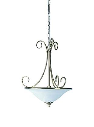 Lite Source Renaissance Ceiling Lamp, Antique Brass/Cloud