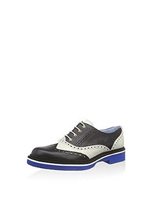 Pollini Zapatos de cordones Scarpad.mic35bi/bl Bott.nero+avorio