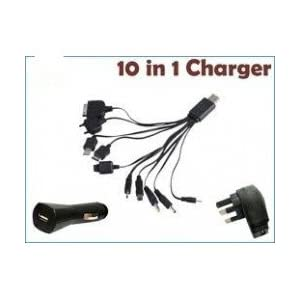 Universal Car and wall Travel Multi Charger 10 in 1 USB for all mobiles