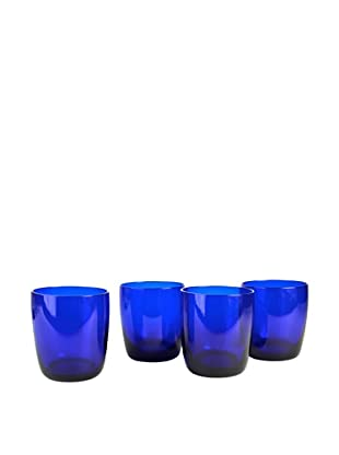 Set of 4 Midnight Blue 13-Oz. Double Old Fashion Glasses