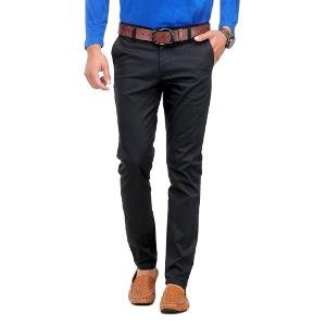 Loveusale Men's Casual Trousers - Black