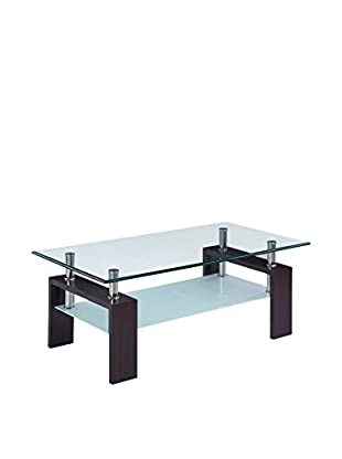 Luxury Home Occasional Coffee Table, Clear/Frosted