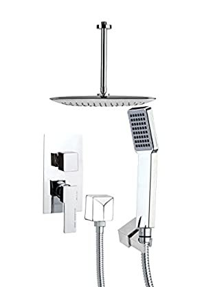 Remer By Nameek's 4-Piece Orsino Elongated Ceiling-Mounted Shower Set, Chrome