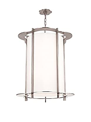 Hudson Valley Lighting Warwick 8-Light Chandelier, Polished Nickel/White
