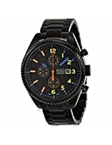 Esq By Movado Chronograph Black Dial Black Ion-Plated Stainless Steel Mens Watch 07301452