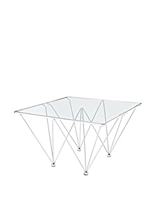 Modway Edifice Stainless Steel Coffee Table, Silver