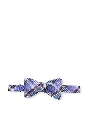 Bruno Piattelli Men's Plaid Bow Tie, Lilac