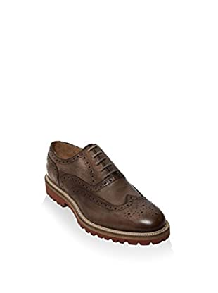 British Passport Zapatos Oxford Wing Cap