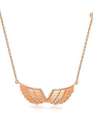 Divas Diamond Collana argento 925 bagnato oro
