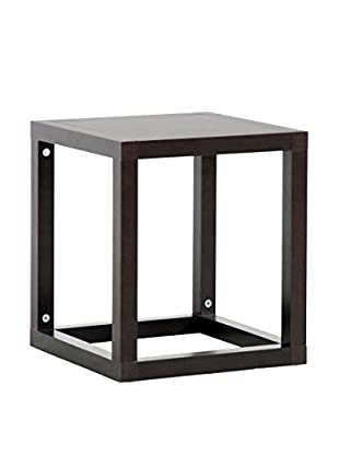 Baxton Studio Hallis Accent Table & Nightstand, Dark Brown