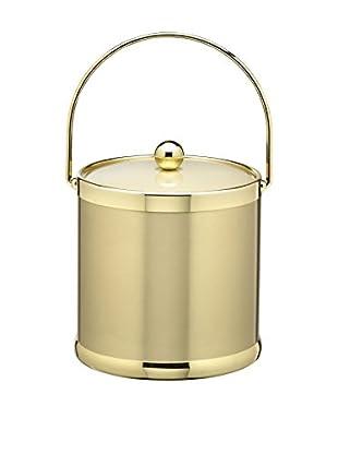 Kraftware Brushed Brass 3-Qt. Bale Handled Ice Bucket