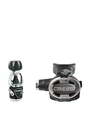 Cressi Atemregler Mc9 Ellipse Titanium DIN schwarz