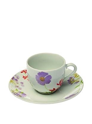 Tognana  Kaffeetasse mit Untertasse 6er Set Olimpia Penelope weiß/mehrfarbig