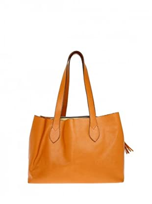 Elysa Ledershopper mit Quaste (Orange)